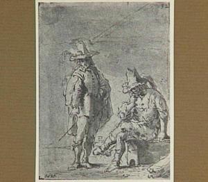 Lazarillo's weerzien met zijn aan lager wal geraakte meester (Lazarillo de Tormes dl. 2, cap. 2, p. 61)