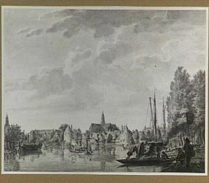 Gezicht op het Noorder Spaarne te Haarlem