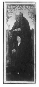 De H. Petrus met een stichtster (op de buitenzijde de H. Matteüs, in grisaille)