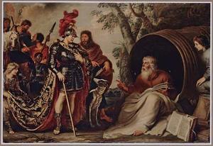 Alexander de Grote en DIogenes in de ton