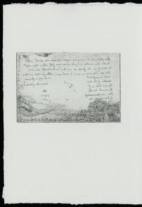 Landschap met deltaplan en wolk