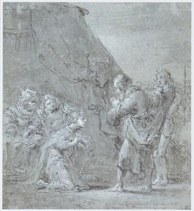 Ongeïdentificerde historische voorstelling (de grootmoedigheid van Scipio?)