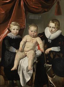 Portret van drie broers genaamd Hendrick, Johannes en Simon