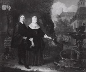 Dubbelportret van Johan Rouse (1626-1665) en Maria Olycan (1629-1650)