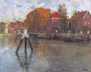 Zicht op Dordrecht (Kalkhaven)
