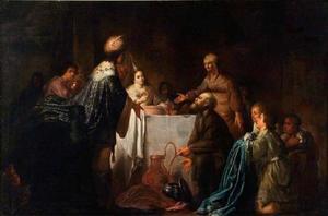 De vrouw van Potifar beschuldigt Jozef van aanranding (Genesis 39:16-19)