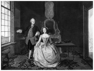 Portret van Jacob Gael (1720-1780) en Cornelia Jacoba van Schuylenburgh (1727-1795)