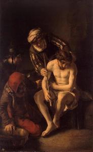 De bespotting van Christus (Matteüs 27,28-30; Marcus 15, 17-19; Lucas 22, 63-65; Johannes 19,2-3)