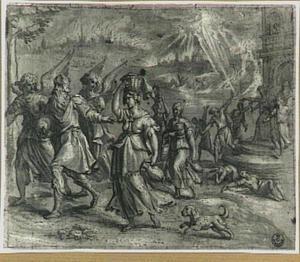 De engelen manen Lot en zijn familie tot haast bij hun vlucht uit Sodom  (Genesis 19:21)