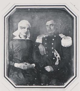 Portret van Jan Appeldoorn (1813-1885) en Joukje Alberts Stuur (1818-1891)