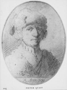 Portret van een man met bontmuts en bontjas