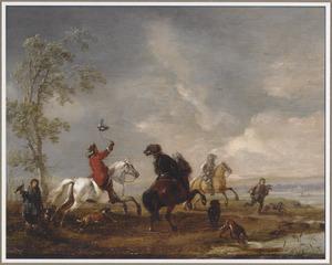Landschap met valkenjacht