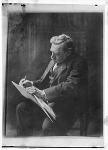 Albert Neuhuijs  (1844-1914) met een schetsboek