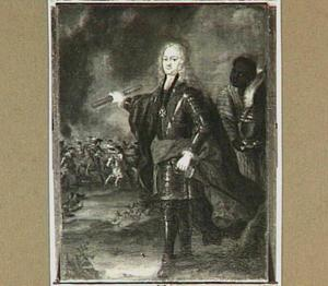 Portret van Reinhard van Reede van Ginkel (1768-1747), met een bediende