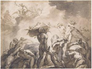 De strijd tussen de goden en de giganten (Metamorfosen 1:152-158)