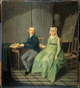 Zelfportret van Wybrand Hendriks (1744-1831), met Agatha Ketel (1736-1802)