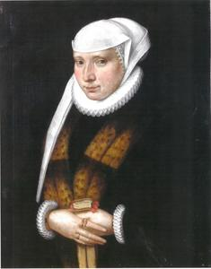 Burgervrouw in Duitse klederdracht