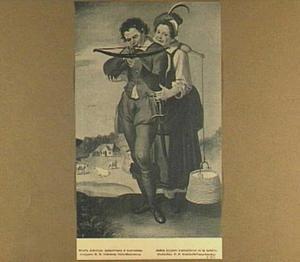 De boogschieter met zijn vriendin