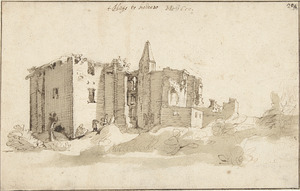 De ruïne van kasteel Brederode vanuit het zuidwesten