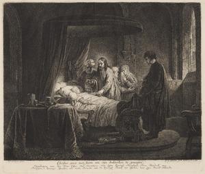 Christus gaet met Jaïro om sijn dochterken te geneesen