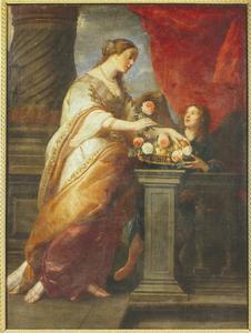 De H. Dorothea met een engel