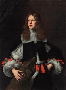 Portret van Orazio Piccolomini (1639-1678) met een hond