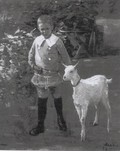 Jan met geit