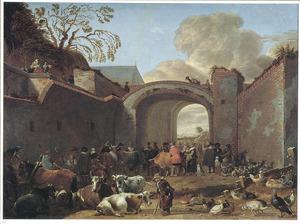 Veemarkt bij de Maliepoort te Utrecht