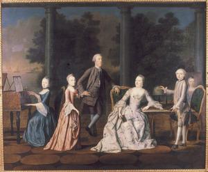 Portret van de familie van Jacob van der Mandere (1707-1775)  en Petronella Geertruijd van Berckel (1716-1780)