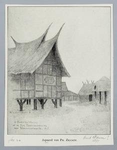 De Sumatra-woning op de nationale tentoonstelling van vrouwenarbeid (1898)