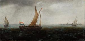 Schip voor de kust