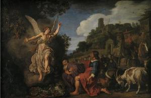 De Engel neemt afscheid van Tobit en zijn zoon (Tobias 12:6-22)