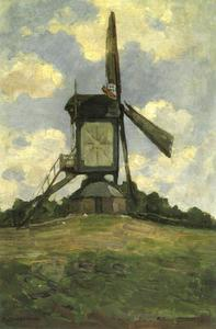 Post mill at Heeswijk, side view