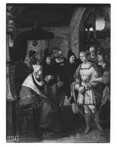 De H. Sebastiaan voor keizer Diocletianus