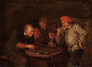 Triktrak spelende mannen