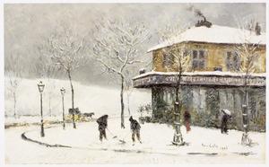 Winterse straatscene