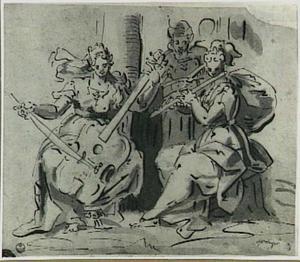 Drie musicerende vrouwen