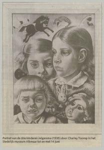 Portret van drie kinderen uit familie Jelgersma