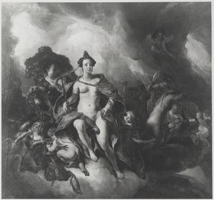 De godin Juno in de wolken met haar gevolg