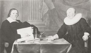 Dubbelportret van van Johan Kriens (....-1656) en Sara Lampers (....-1663)