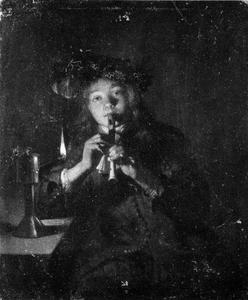 Fluitspelende jongen