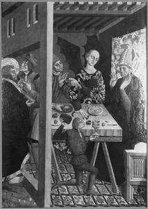 H. Andreas redt een bisschop, die wordt verleid door de duivel in de gedaante van een vrouw