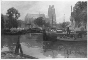 Haven van Dordrecht met Grote Kerk