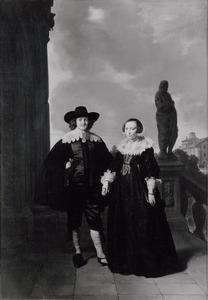 Dubbelportret van Frederick van Velthuysen (....-1658) en Josina van Schonevelt (....-1636)