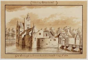 Linker- en voorzijde van Kasteel Adrichem Anno 1650