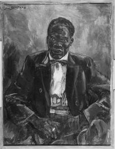 Portret van een onbekende donkere man