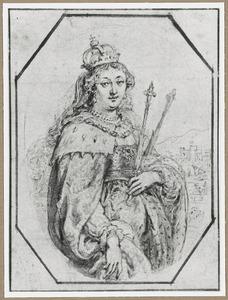 Koningin met scepter