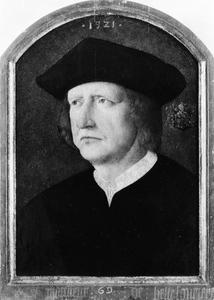 Portret van een heer genaamd De Bellefourière