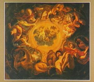 Psyche door de goden opgenomen op de Olympus als de bruid