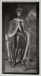 Gefantaseerd portret van keizer Hendrik IV (1050-1106)